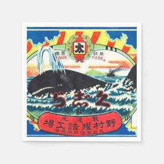 Serviettes Jetables Le Japonais vintage de viande de baleine peut