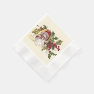 Serviettes Jetables Le père noël victorien vintage, Noël c.1906