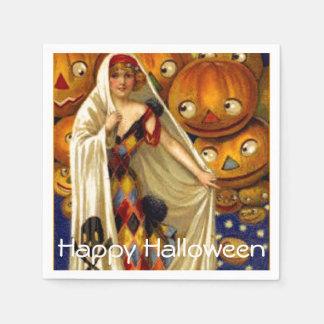 Serviettes Jetables Madame vintage JOLs Halloween Party