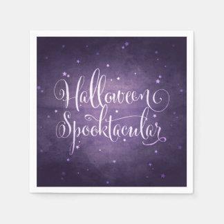 Serviettes Jetables Manuscrit et étoiles élégants Halloween gothique