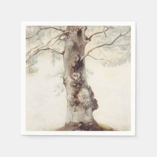 Serviettes Jetables Mariage rustique d'arbre