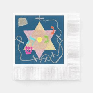 Serviettes Jetables Miracle de l'ensemble de souvenir de Hanoukka de