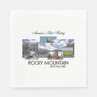 Serviettes Jetables Montagne rocheuse NP d'ABH