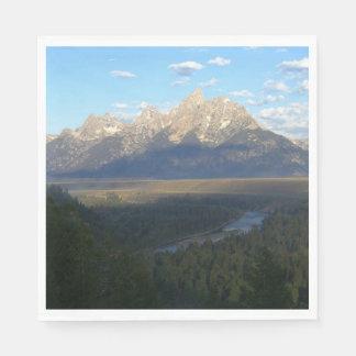 Serviettes Jetables Montagnes de Jackson Hole (parc national grand de