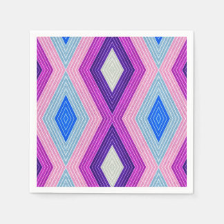 Serviettes Jetables Motif coloré géométrique