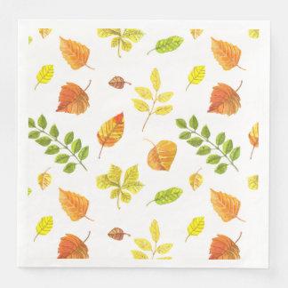 Serviettes Jetables Motif de feuille d'automne