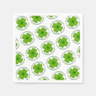 Serviettes Jetables Motif de trèfle du jour de St Patrick