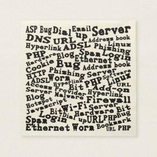 Serviettes Jetables nuage des mots d'Internet