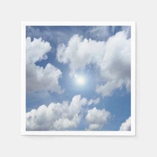 Serviettes Jetables Nuages bleus de ciel + vos idées