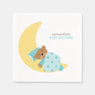 Serviettes Jetables Ours de nounours en bon état de sommeil de rêves