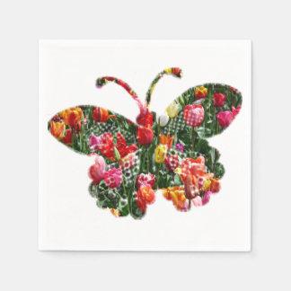 Serviettes Jetables Papillon de tulipe