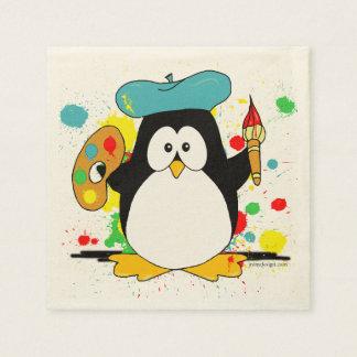 Serviettes Jetables Pingouin artistique
