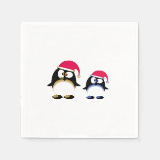 Serviettes Jetables Pingouins