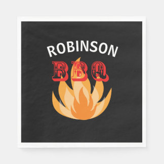 Serviettes Jetables Plaques à papier personnalisées de BBQ de flammes