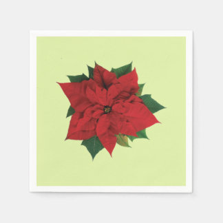Serviettes Jetables Poinsettia