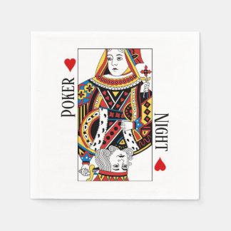 Serviettes Jetables Roi et reine de épouser de Las Vegas de coeurs