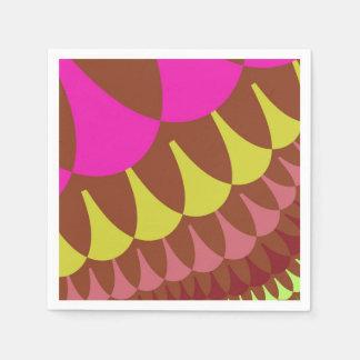 Serviettes Jetables Rose et serviettes de papier d'échelles de Brown