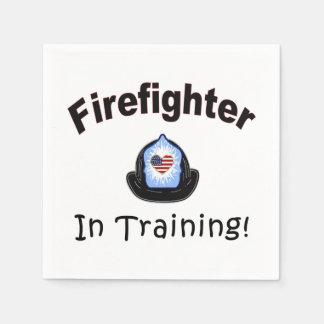 Serviettes Jetables Sapeur-pompier dans la formation