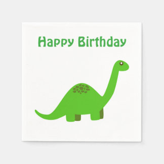 Serviettes Jetables Serviette de dinosaure de joyeux anniversaire
