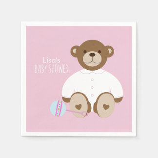 Serviettes Jetables Serviette de papier de baby shower d'ours de