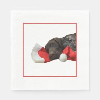 Serviettes Jetables Serviette grisâtre brillante de fête de Noël