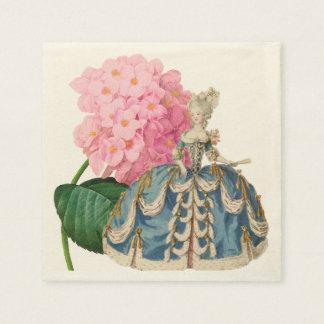 Serviettes Jetables Serviette rose de Marie Antoinette Ecru