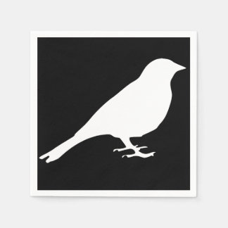 Serviettes Jetables Serviettes blanches d'oiseau