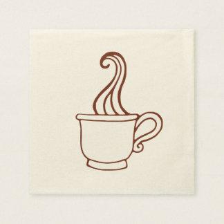 Serviettes Jetables Serviettes classiques de café