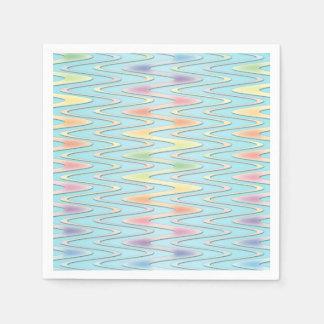 Serviettes Jetables Serviettes colorées par arc-en-ciel en pastel