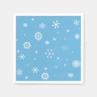 Serviettes Jetables Serviettes de flocon de neige