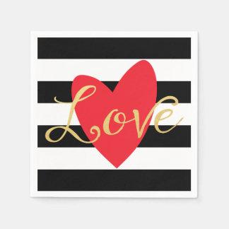 Serviettes Jetables Serviettes de papier d'amour moderne