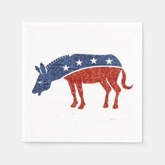 Serviettes Jetables serviettes de papier d'âne de démocrate de