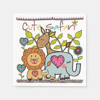 Serviettes Jetables Serviettes de papier d'anniversaire de enfant