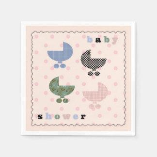 Serviettes Jetables Serviettes de papier de baby shower de fille de