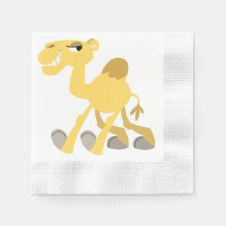 Serviettes Jetables Serviettes de papier de chameau frais et mignon de