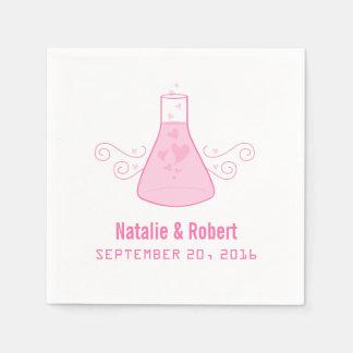 Serviettes Jetables Serviettes de papier de chimie douce rose