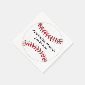 Serviettes Jetables Serviettes de papier de conception de base-ball