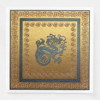 Serviettes Jetables Serviettes de papier de dîner de dragon de jade