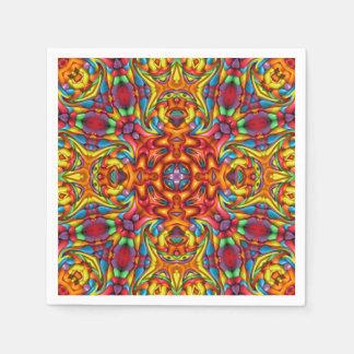 Serviettes Jetables Serviettes de papier de kaléidoscope    bizarre de