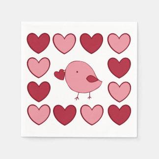 Serviettes Jetables Serviettes de papier de petit poussin de Valentine