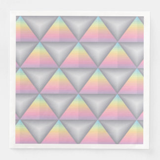 Serviettes Jetables Serviettes de papier de triangles géométriques en