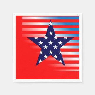 Serviettes Jetables Serviettes de papier partie de partie patriotique