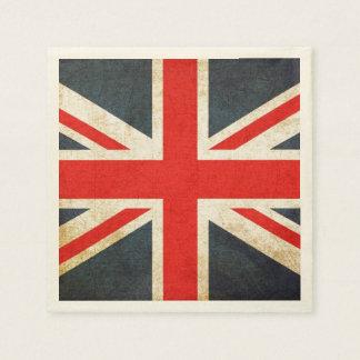Serviettes Jetables Serviettes de papier snob britanniques grunges
