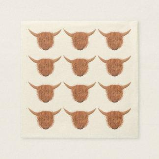 Serviettes Jetables Serviettes des montagnes velues de vache