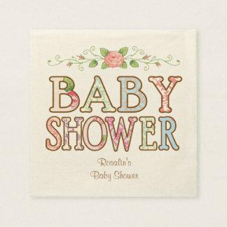 Serviettes Jetables Serviettes florales faites sur commande de baby