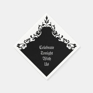 Serviettes Jetables Serviettes gothiques élégantes de motif