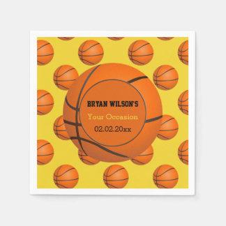 Serviettes Jetables Serviettes personnalisées par thème de basket-ball