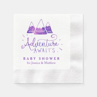 Serviettes Jetables Serviettes tribales de baby shower d'aventure de