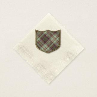 Serviettes Jetables Tartan d'écossais de plaid de clan d'Anderson