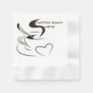 Serviettes Jetables Tasse de café cuisant la conception à la vapeur de